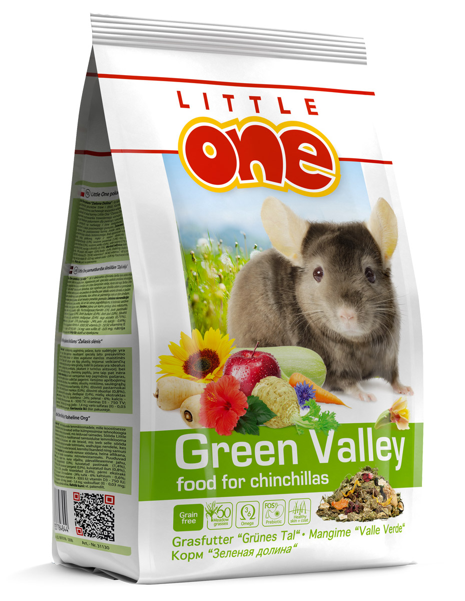 "Little One grass food for chinchillas ""Green Valley"""