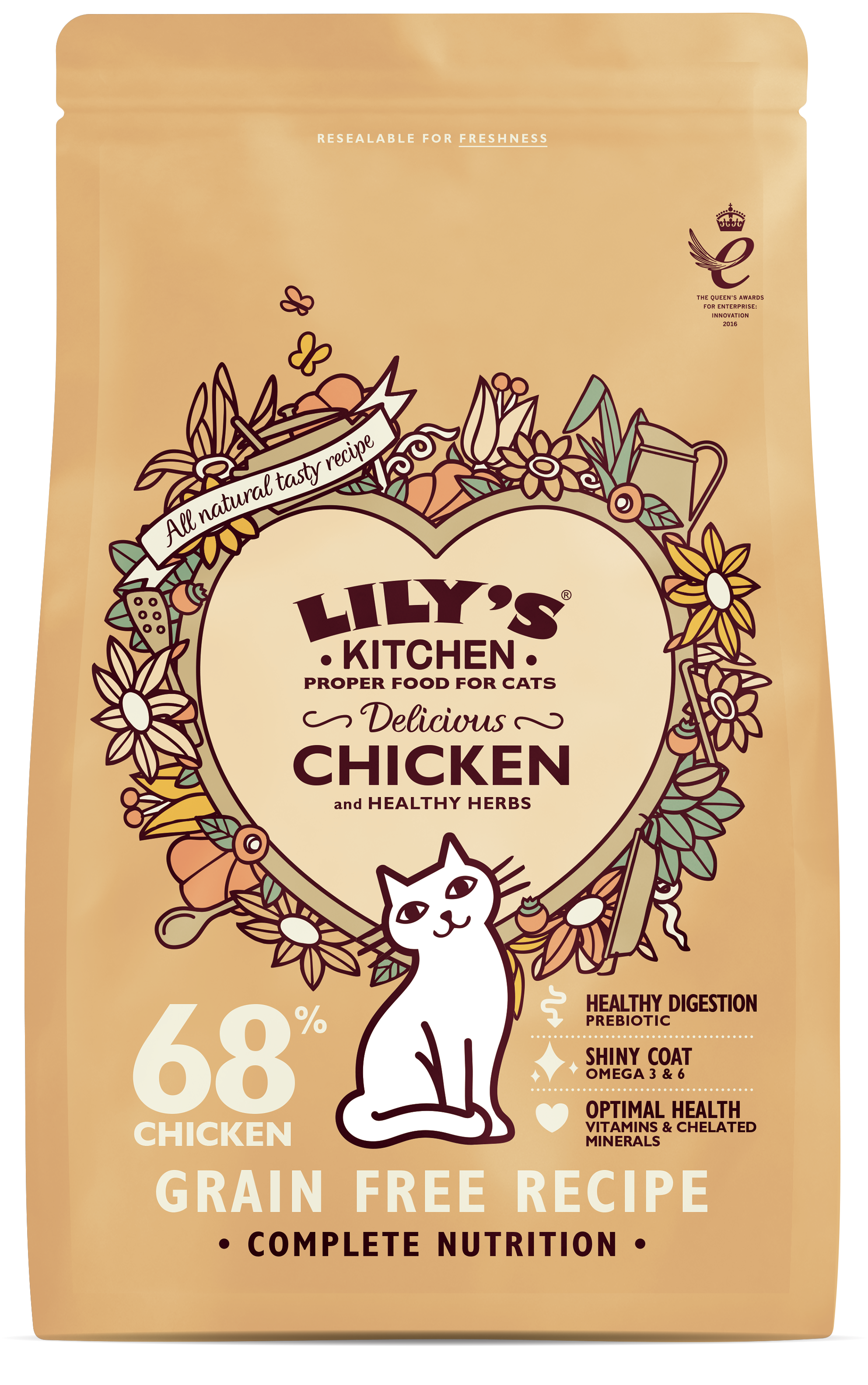 Delicious Chicken Complete Dry Food for Cats