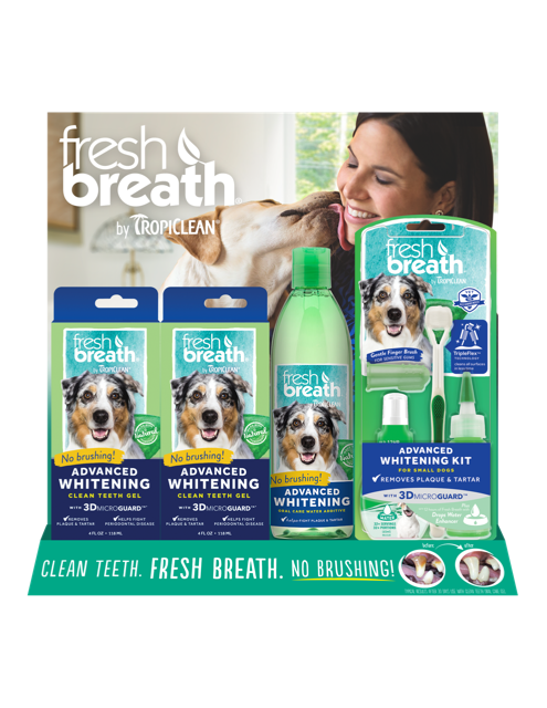 Fresh Breath Advanced Whitening Display, stand US-19