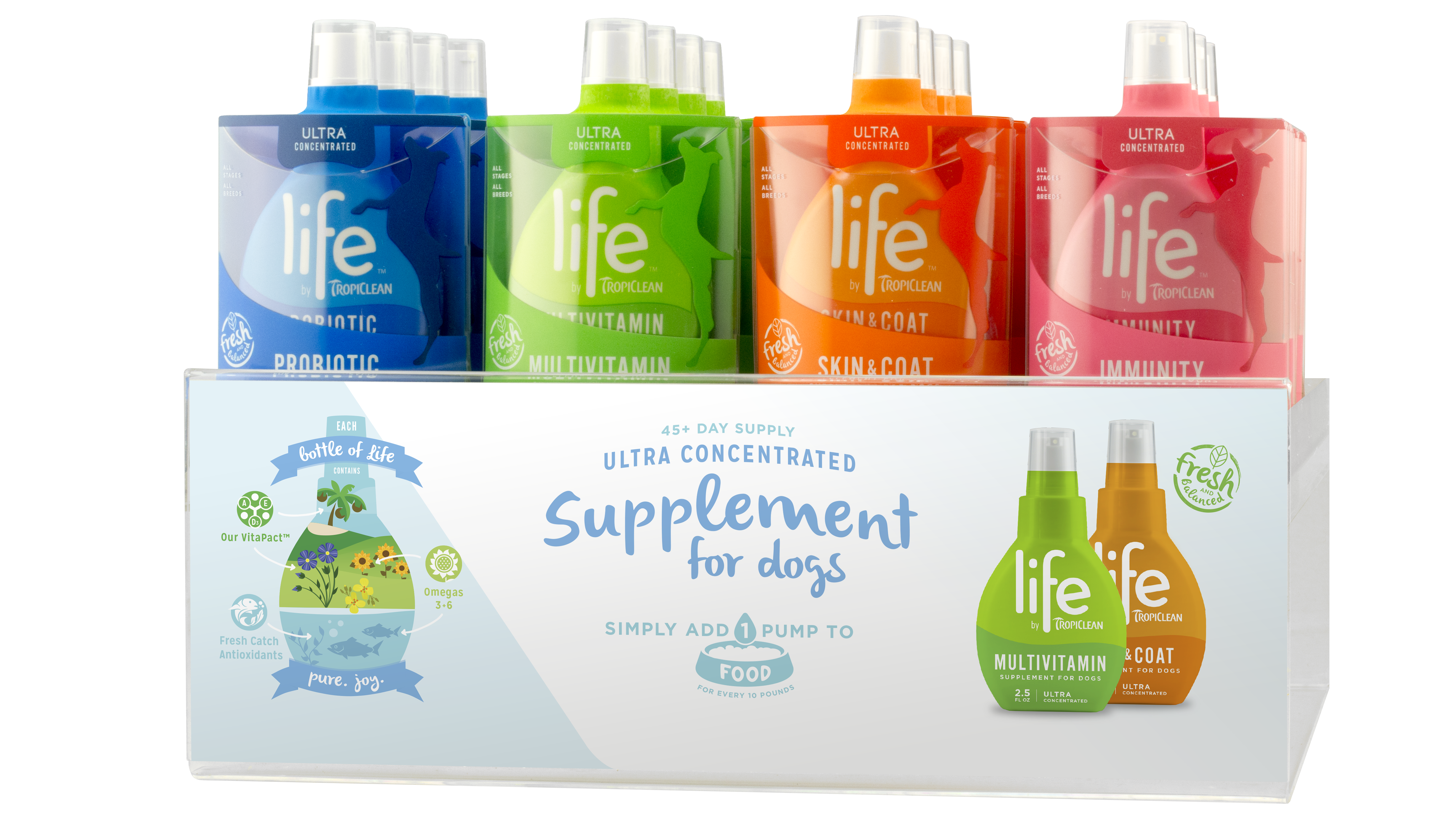 Life by TropiClean supplements, stand US-19